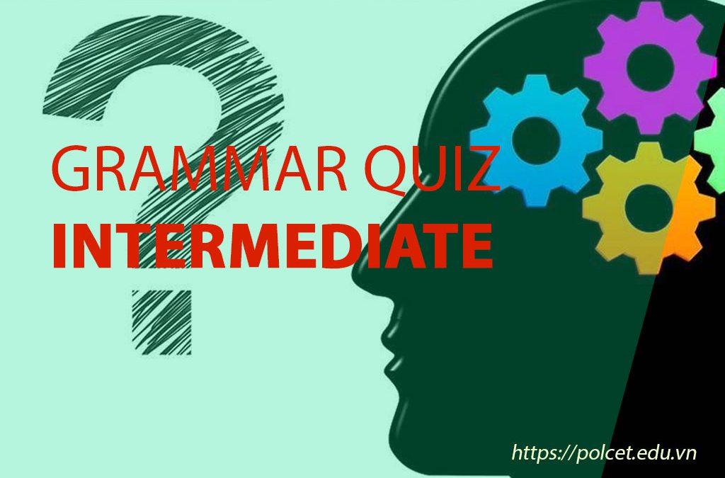 Grammar Quiz – Intermediate